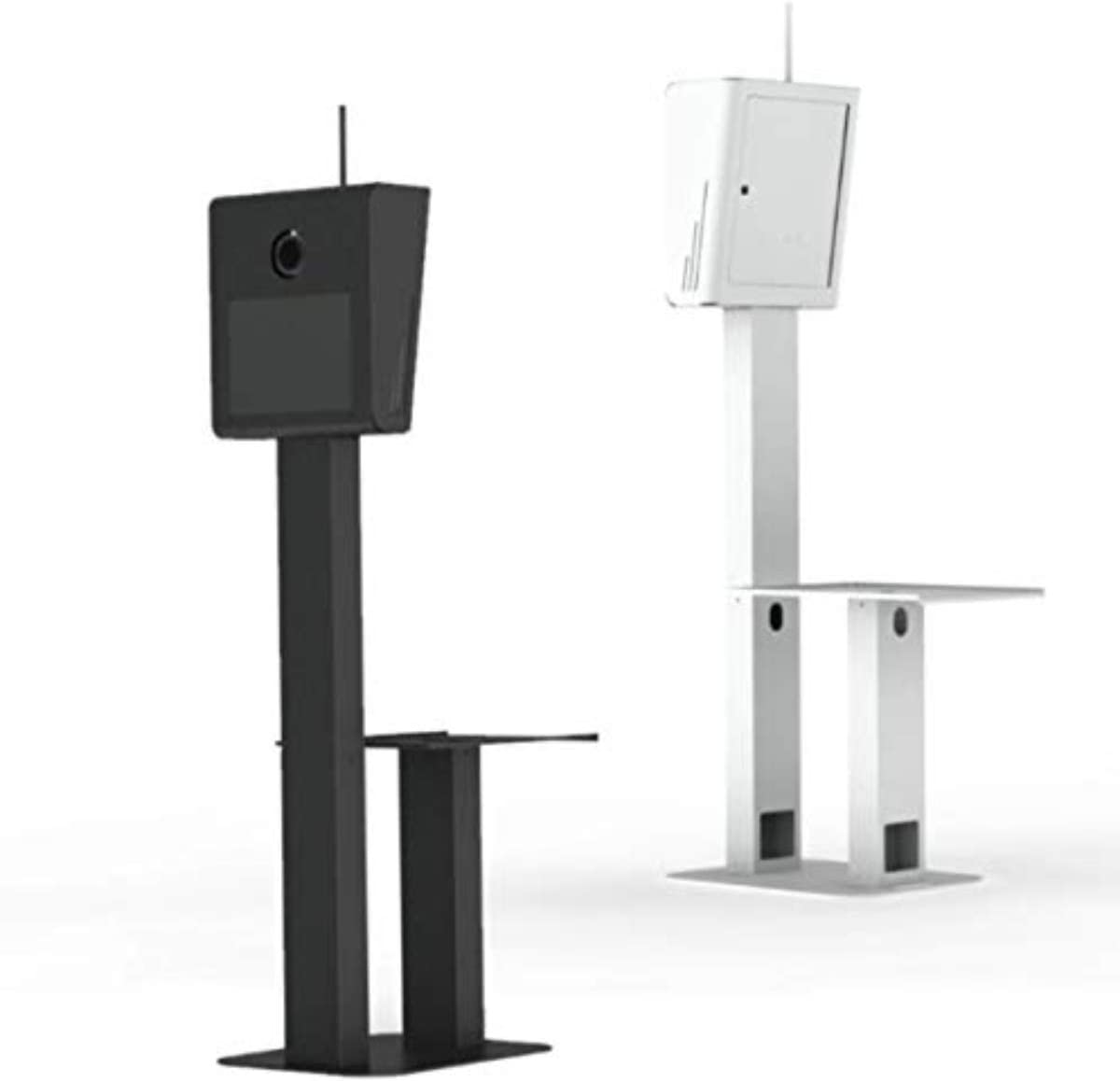 T11 4.0 Photo Booth Branding Capability Light and Maximum Portable Shell with Rectangular Shaped Stand Printer Stand, White
