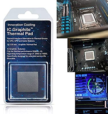 Innovation Cooling Graphite Thermal Pad Alternative To Thermal Paste Grease 30 X 30mm Amazon Sg Electronics