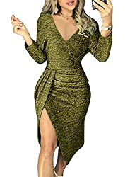 Green_1 Off The Shoulder Sequin Long Maxi Gown with Slit