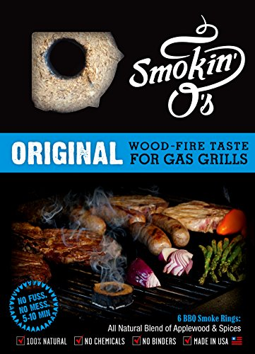 Smokin-O's BBQ Smoke Rings - Wood-fire Taste for Gas Grills, (Grilling Ring)