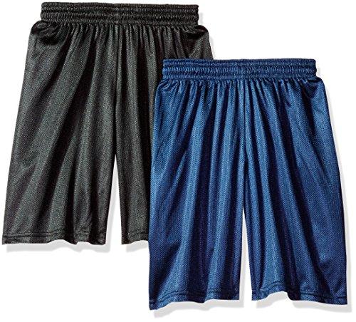 Soffe Big Boys' 7-Inch Poly Mesh Short, Black/Navy 2 Pack, ()