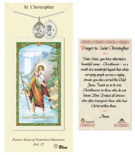 St. Christopher Prayer Card & Medal for Track/Runners (Male)