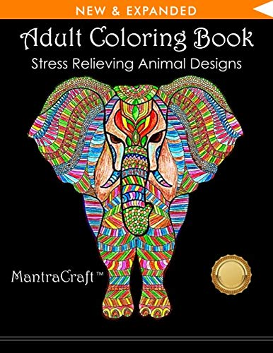 50 ANIMAL PATTERNS TO COLOR | From MantraCraft, creator of best-selling coloring books.           This adult coloring book from MantraCraft has over 50 animal patterns and provides hours of stress relief through creative expression. It featur...