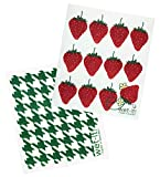 Wet-It! Swedish Dishcloths Set of 2 (Strawberry and Green Houndstooth)