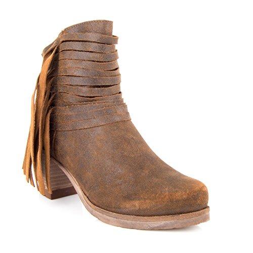 Felmini - Damen Schuhe - Verlieben Califa 9255 - Hochhackige Stiefeletten - Echtes Wildleder - Braun