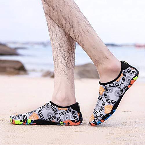 couleur Gray Plein Chaussures D32515 Air Td À Taille Noir Rapide Séchage De Antidérapantes 43 Plage Couple Natation Wading Plongée BU6gBYfqw