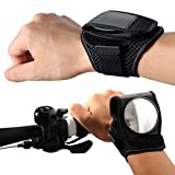 MeanHoo 1 PCS Rear View Mirror Bike Wristbands Viewfinder Retroreflector Wrist Guards Bicycle Cycling Rearview Mirror Reflector Cycling Accessories (Black)