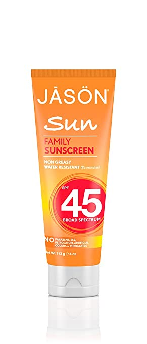Jason Family Sunscreen Broad Spectrum SPF 45 4 oz