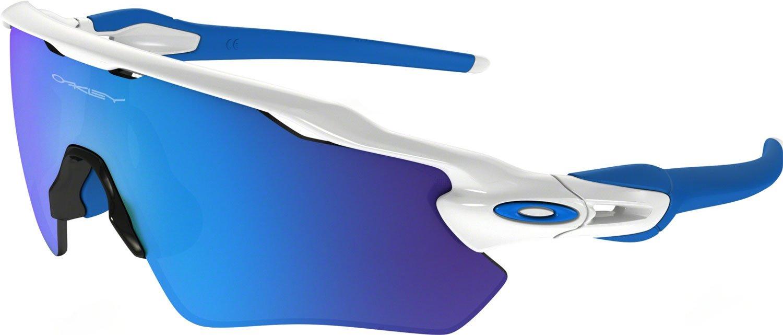 Oakley Boys' Radar Ev Xs Path Non-Polarized Iridium Rectangular Sunglasses, Polished White, 31.01 mm