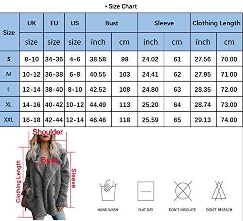 Femme Chaud Gris Yidarton Peluche Foncé Manche Jacket Cardigan Longue Mode Blouson Hiver Manteau Streetwear AdFdqz