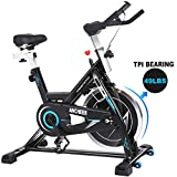 ANCHEER Indoor Cycling Bike – Stationary Exercise Bikes with Adjustable Resistance and LCD Monitor for Home Exercise, 49LBS Flywheel (Model: ANCHEER-B3008)
