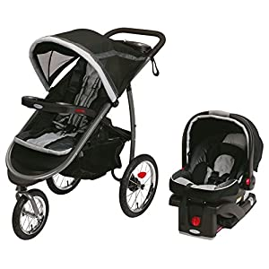 Graco FastAction Fold Jogger Travel System (Stroller and Car Seat), Gotham