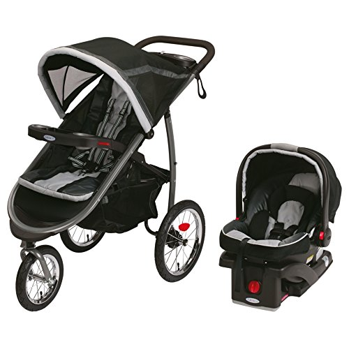 Fold Baby Stroller - Graco Fastaction Fold Jogger Click Connect Baby Travel System, Gotham, One Size