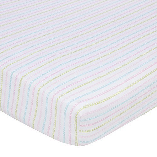 Gerber Knit Crib Sheet - Squiggle Lines