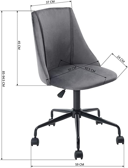 Sep Home Bureaustoel, ergonomisch, in hoogte verstelbaar