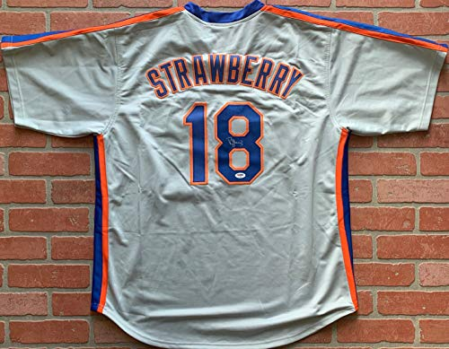 Darryl Strawberry autographed signed jersey MLB New York Mets PSA COA ()