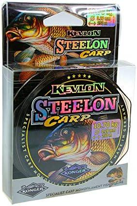 Konger Angelschnur STEELON CARP 0,22-0,40mm//250m Spule Karpfenschnur Monofile
