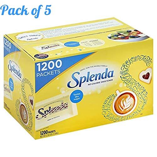 SPLENDA No Calorie Sweetener, Single-Serve Packets (1,200 Count) (Case of 5) by Splenda