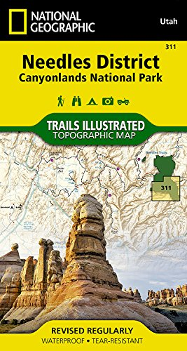 Needles District  Canyonlands National Park  National Geographic Trails Illustrated Map