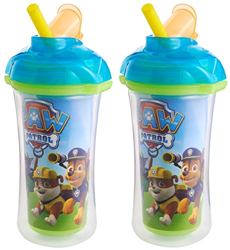 Munchkin Paw Patrol Click Lock Insulated Straw Cup, 2 Pack, Blue