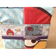 Angry birds super soft micro mink fitted sheet and pillow case