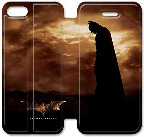 Flip étui en cuir PU Stand pour Coque iPhone 5 5S, bricolage cas de téléphone cellulaire 5 5S The Dark Knight Covers D8Y3YD Coque iPhone Leathers
