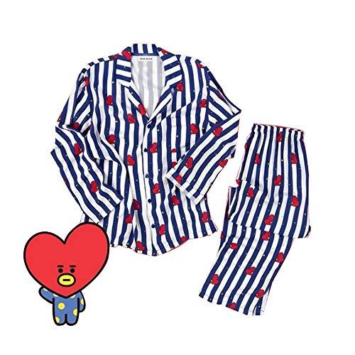 Pajama Trousers (XUSHAN Kpop BTS Jimin V Pajamas Nightgown TATA CHIMMY Cooky Cartoon Sleepwear Loose Pajamas for Womens and Mens (TATA, L))