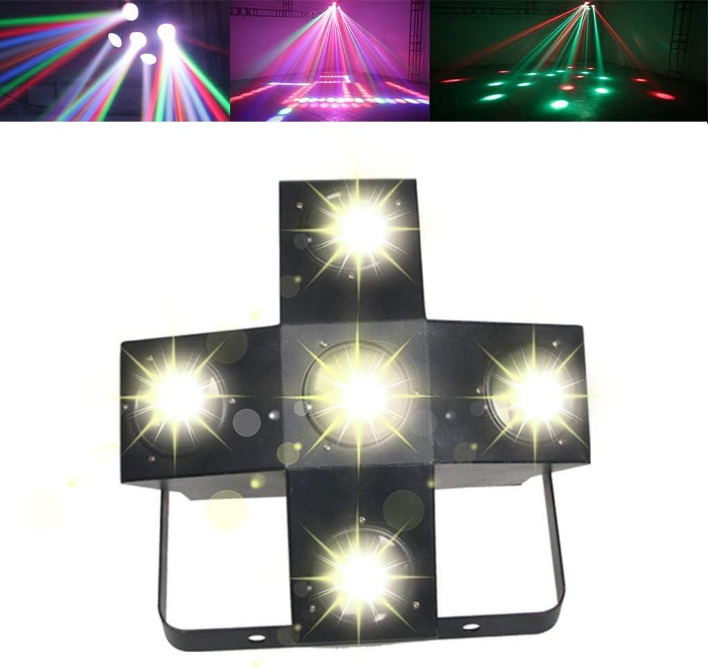 サウンド活性化パーティーライトLEDステージライトパーティーウェディングショーパブカラオケクリスマスのための5色ディスコライトグレート 1/14