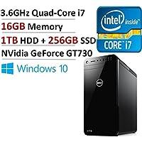 Dell XPS 8920 Desktop Intel Quad-Core i7-770016GB DDR4, 256GB SSD + 1TB HDD, NVidia GeForce GT730 Windows 10 (Certified Refurbished)