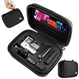 CamKix Small Case for GoPro Hero 4, 3+, 3, 2, 1 and Accessories – Ideal for Travel or Home Storage – Complete Protection for Your GoPro Camera – CamKix Microfiber Cleaning Cloth Included (Small, Black)