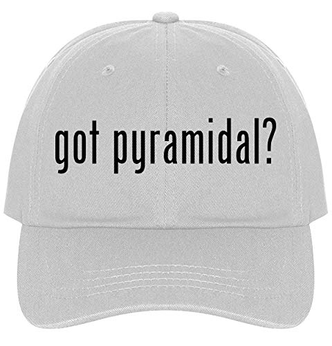 - The Town Butler got Pyramidal? - A Nice Comfortable Adjustable Dad Hat Cap, White
