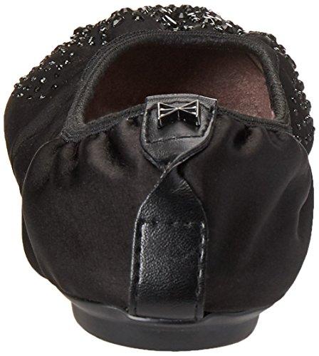 Crystals Black con Crystal para 130 Negro Bailarinas Butterfly Twists Punta Mujer Janey Cerrada fxqPPv