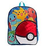 Pokémon Kids Pokeball Pocket 16 Inch Backpack with LCD Light-Up Wristband Watch
