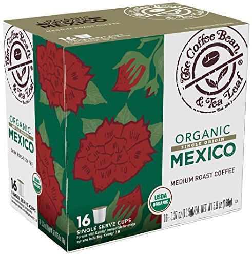 Coffee Bean & Tea Leaf Put Serve Coffee Cups, Mexico Organic, 64 Count (4/16ct boxes)