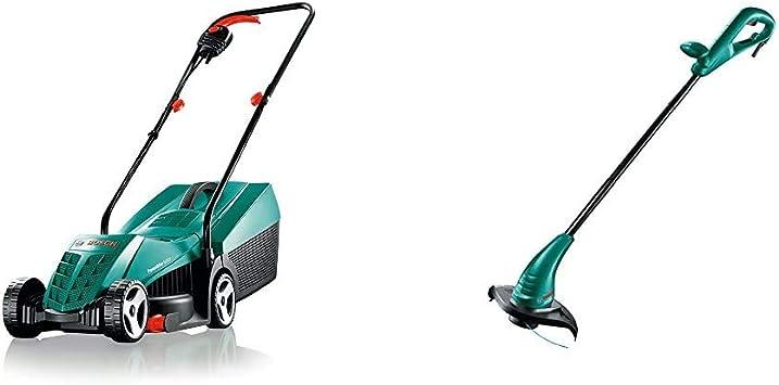 Bosch ARM 32 - Cortacésped, 1200 W, 230 V, Negro, Verde + Bosch 06008A5000 Cortabordes (cable 280 W, 240 V), Negro, Verde: Amazon.es: Bricolaje y herramientas