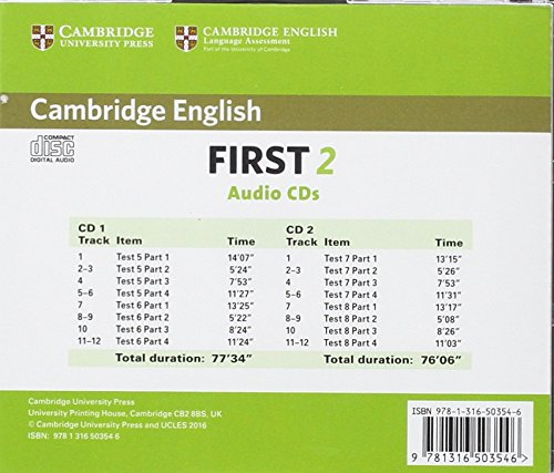 cambridge english first  Cambridge English First 2 Audio CDs 2 : Authentic Examination Papers ...