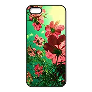 Charming red flowers Phone Case for iPhone 5S(TPU)
