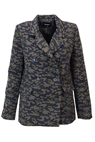 Desigual Jacket Woman AME Jambi 18WWEW38 Blazer 38 (s) Green