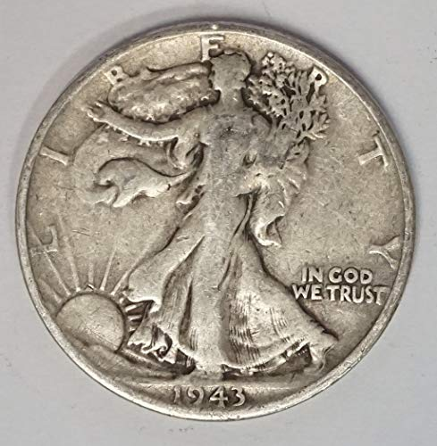 1943 S Walking Liberty Half Dollar 50c Average Circulated (1943 Liberty Half Dollar)