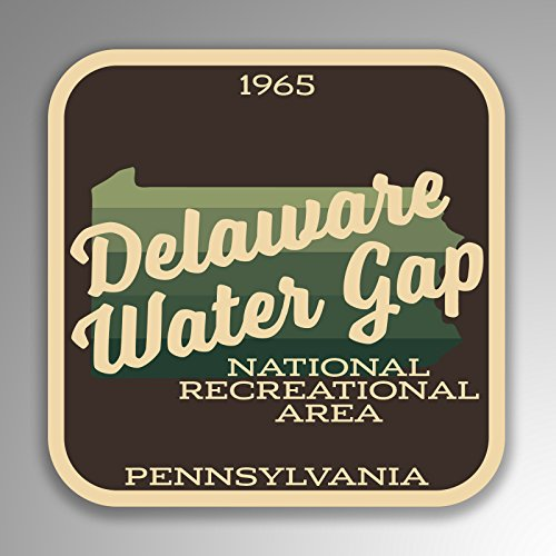 (JMM Industries Delaware Water Gap National Recreation Area Pennsylvania Vinyl Decal Sticker Retro Vintage Look 2-Pack 4-inches by 4-inches Premium Quality UV Protective Laminate SPS436)