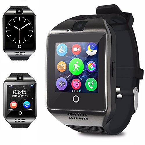 Bluetooth Smart Watch – Aeifond Touchscreen Smartwatch Smart Wrist Watch Sport Fitness Tracker Pedometer Watch With SIM TF Card Slot Camera for Android Samsung IOS iPhone Kids Women Men (Black)