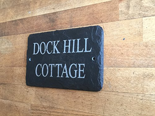 Beautiful Natural Slate House Sign 25cm x 12cm Traditional Rustic Finish