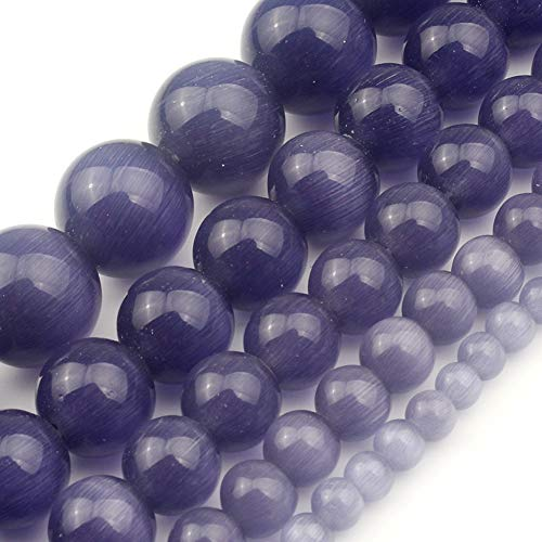 Love Beads 4mm Smooth Purple Cats Eye Beads Spacer Loose Beads 15 inch Strand