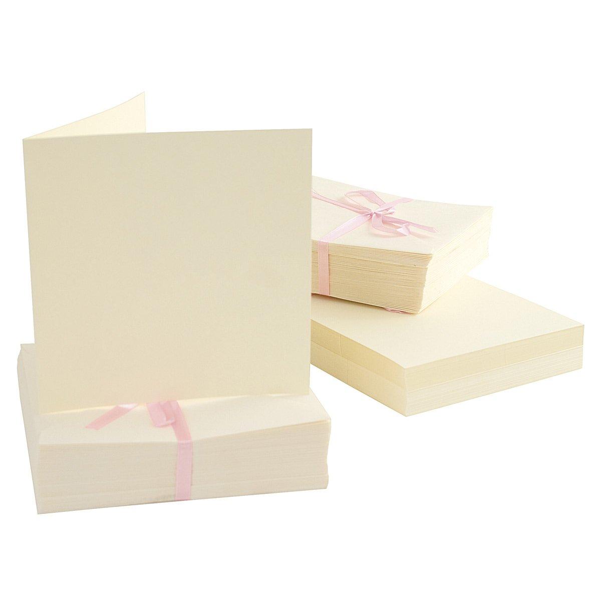 Anitas Docrafts - Paquete de 100 tarjetas A6 (135 x 135 mm), crema
