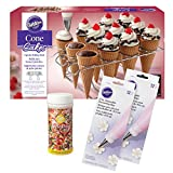 Wilton Ice Cream Cone Cupcakes Decorating Kit, 26-Piece - Decorating Bags, Sprinkles, Cupcake Cone Baking Rack