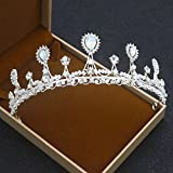 Sunshinesmile Pageant Princess Bridal Crystal Wedding Hair Tiara Crown Veil Headband Prom Party Gift
