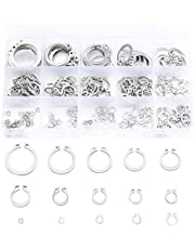 Jalan 175 pcs E-Clips External Retaining Snap Ring Circlips kit, Assorted 15 Sizes 2.5 to 23 mm   304 Stainless Steel