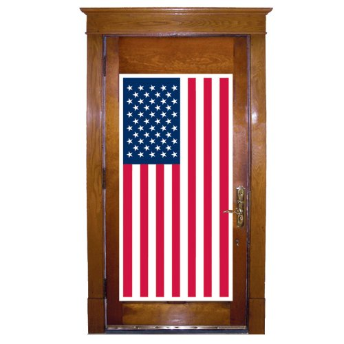 Beistle 57084 American Flag Door Cover, 30 by 5-Feet