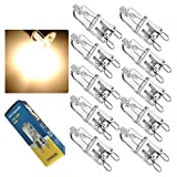 YARKOR G9 Halogen Bulb,Base G9 40W,360 Degrees Energy Saving Spotlight Lamps AC 110-120V (10 Pack)