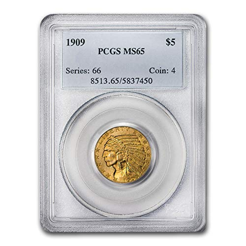1909 $5 Indian Gold Half Eagle MS-65 PCGS G$5 MS-65 PCGS